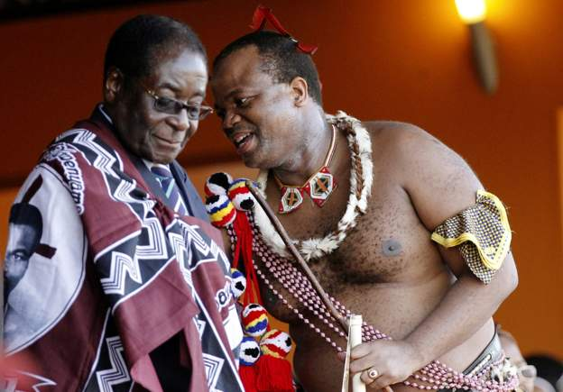 King Mswati III (r) is Africa's last absolute monarch