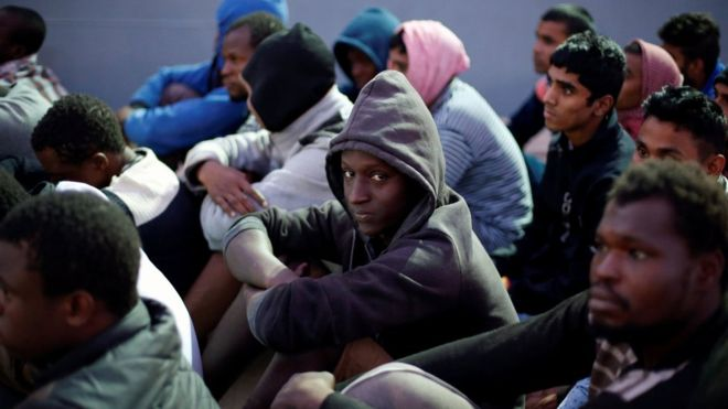 Migrants are put in dire detention camps after getting stuck in Libya while trying to reach Europe